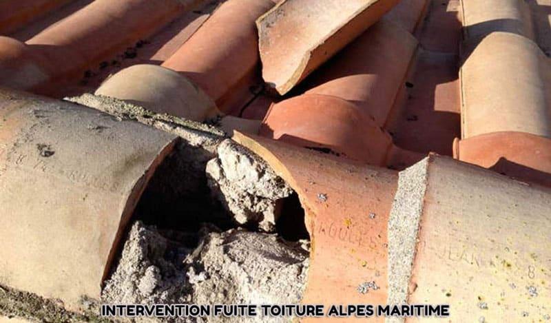 intervention fuite toiture Alpes Maritimes